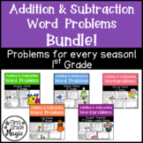 First Grade Addition and Subtraction Word Problems BUNDLE
