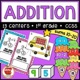 First Grade Addition to 20 Centers