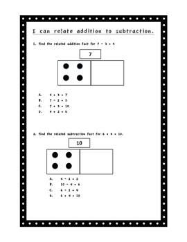 First Grade Addition/Subtraction Test