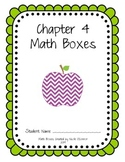 First Grade Advanced Math Boxes: Everyday Math Chapter 4