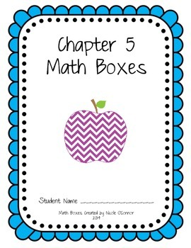 First Grade Advanced Math Boxes: Everyday Math Chapter 5