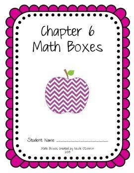 First Grade Advanced Math Boxes: Everyday Math Chapter 6