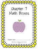 First Grade Advanced Math Boxes: Everyday Math Chapter 7