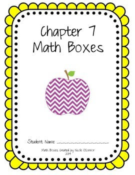 First Grade Advanced Math Boxes: Everyday Math Chapter 7