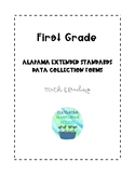 First Grade Alabama Extended Standards Data Sheets for Math & Reading