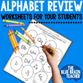 First Grade Alphabet Review | Common Core Aligned
