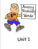 First Grade Amazing Vocabulary Words- Unit 1 Scott Foresman