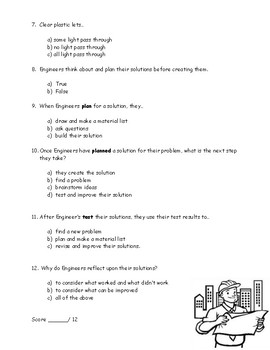 First Grade Amplify Science Unit 2, Chapter 3 Test