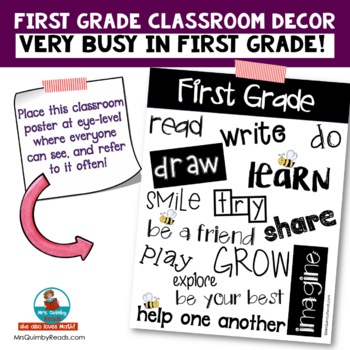 First Grade Anchor Chart [Keywords for Learning] - Classroom Management