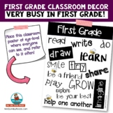 First Grade Poster [Keywords for Learning] | Classroom Management