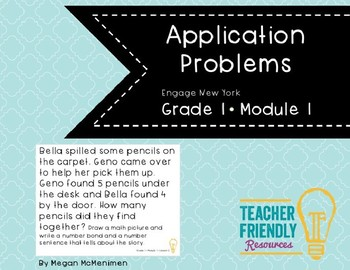 First Grade Application Problem Module 1-Engage New York and Common Core Aligned