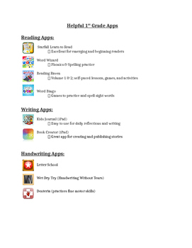 First Grade Apps