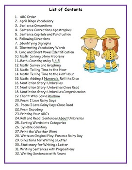 First Grade April Common Core Activities