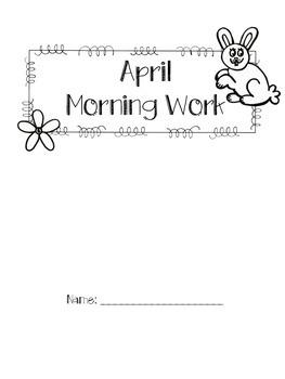 First Grade April Morning Work