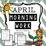First Grade April Morning Work