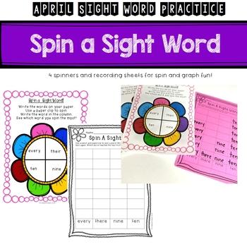 First Grade April Sight Word Activities