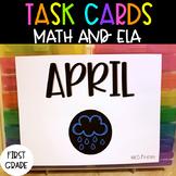 First Grade April Task Cards