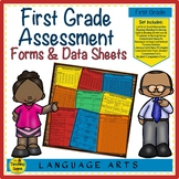 First Grade Reading & Writing Assessment & Data Forms With