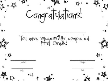First Grade Awards/Certificates