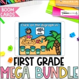 First Grade BOOM Cards Mega Bundle | Digital Task Cards |