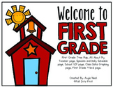 First Grade Back To School Book