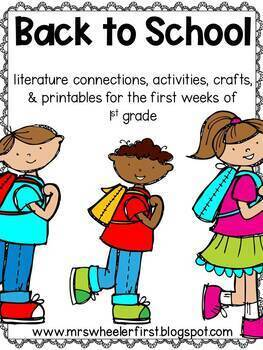 First Grade Back to School Activities