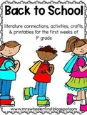 First Grade Back to School Printables