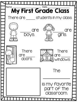 Back to School Activities - First Grade