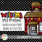 First Grade Back to School Activities Fun Engaging