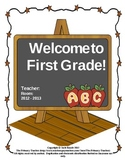 First Grade Back to School Booklet