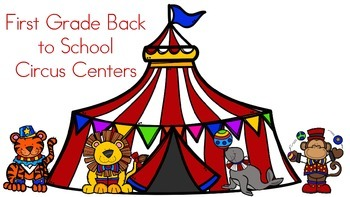 First Grade Back to School Centers