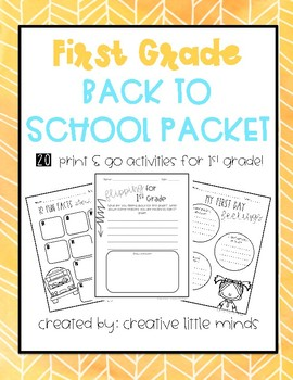 First Grade Back to School Decor Pack