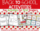 Back to School Activities For First Graders
