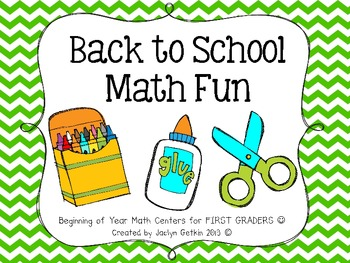 First Grade Back to School Math Fun