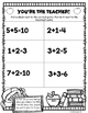 1st Grade Back to School Math Packet