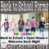 Editable Open House Parent Packet- First Grade