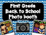First Grade Back to School Photo Booth 2020 with PROPS