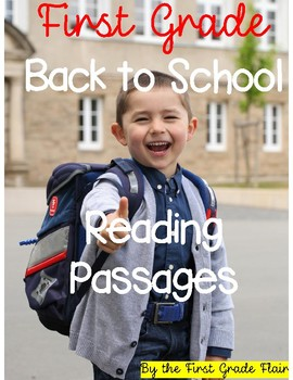 First Grade Back to School Reading Passages (Common Core Aligned)