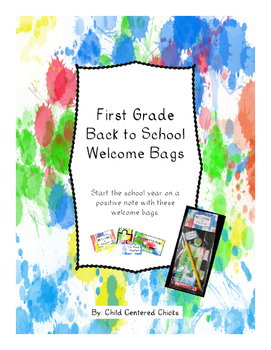 Back to School Welcome Bags First Grade- Ink Spots