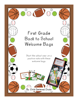 Back to School Welcome Bags First Grade – Sports Theme
