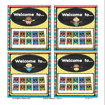 First Grade Banner Back to School