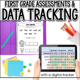 First Grade Assessments & Data Tracking for the Year (w/ Digital Tracker)