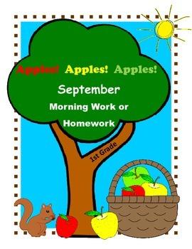 Back to School Activities for First Grade / September Morning Work or Homework