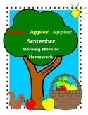 Back to School Activities for First Grade / September Morning Work or Homework