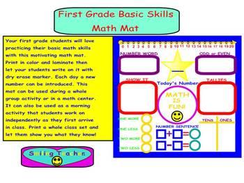 First Grade Basic Skills Math Mat