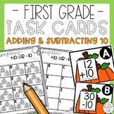 Adding 10 and Subtracting 10 Task Cards
