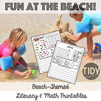 Printable Graphing, Writing, Addition No Prep Activities for Firsties!