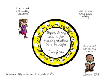 First Grade Before, During and After Reading Questioning and Strategy Circles