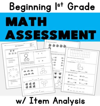First Grade Beginning of Year Math Assessment: Use with Engage NY