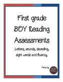 First Grade Beginning of Year Reading Assessments